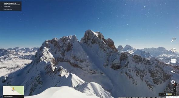 Kleine Gaisl Gipfelrundblick auf Google Maps