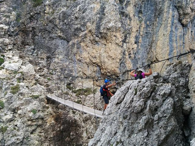 Klettersteig Piz Boe : Pisciadù einer der beliebtesten klettersteige in den dolomiten
