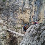 Pisciadù Klettersteig, die Hängebrücke