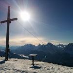 Gipfelkreuz Toblacher Pfannhorn